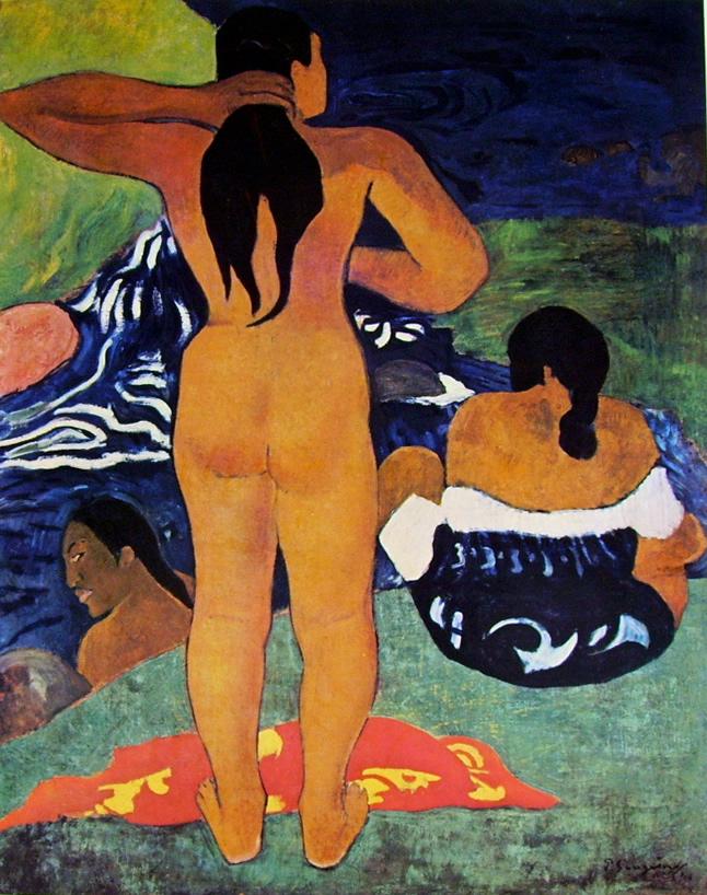 Paul Gauguin-donne tahitiane sulla spiaggia