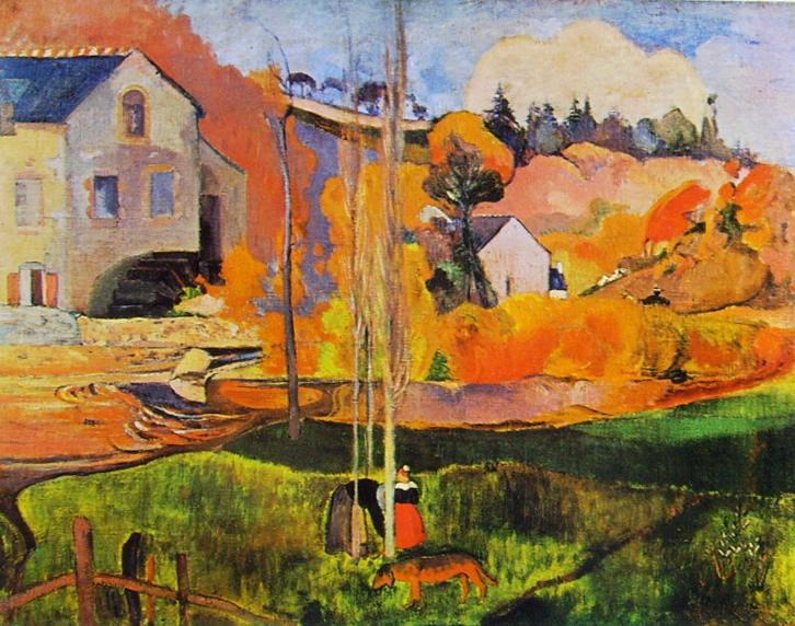 Paul Gauguin-mulino David a pont-aven