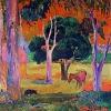 Paul Gauguin-cavallo al pascolo e maiale