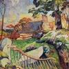 Paul Gauguin-il cancello di legno