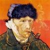 Van Gogh autoritratto 1889 col capo bendato