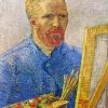 Van Gogh autoritratto degli inizi del 1888 al cavalletto