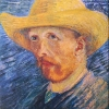 Van Gogh autoritratto dell'estate 1887 con cappello di paglia