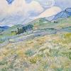 Van Gogh campo d\'orzo con nuvola