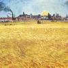 Van Gogh campo di grano al tramonto 519